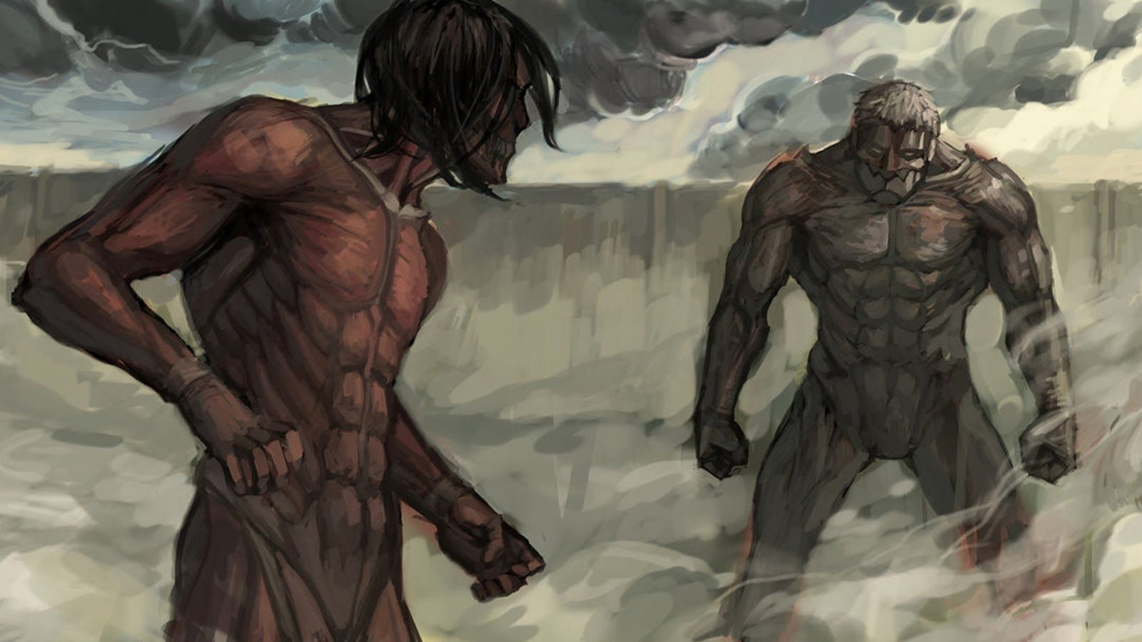 Armored Titan Titan Armored Titan Vs Rogue Attack On Titan Art