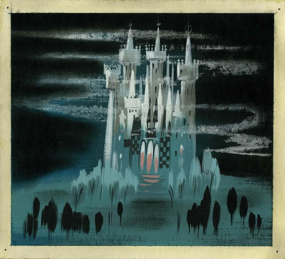 Mary Blair original concept painting of Cinderella\'s castle from ...