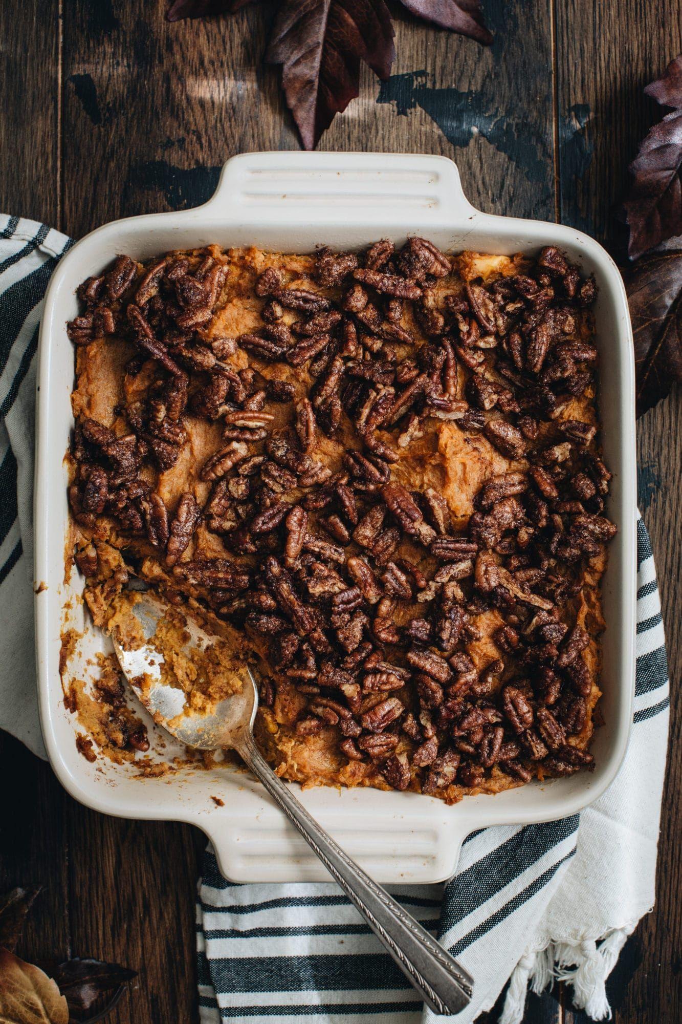 Healthy Sweet Potato Casserole Recipe #sweetpotatocasserole