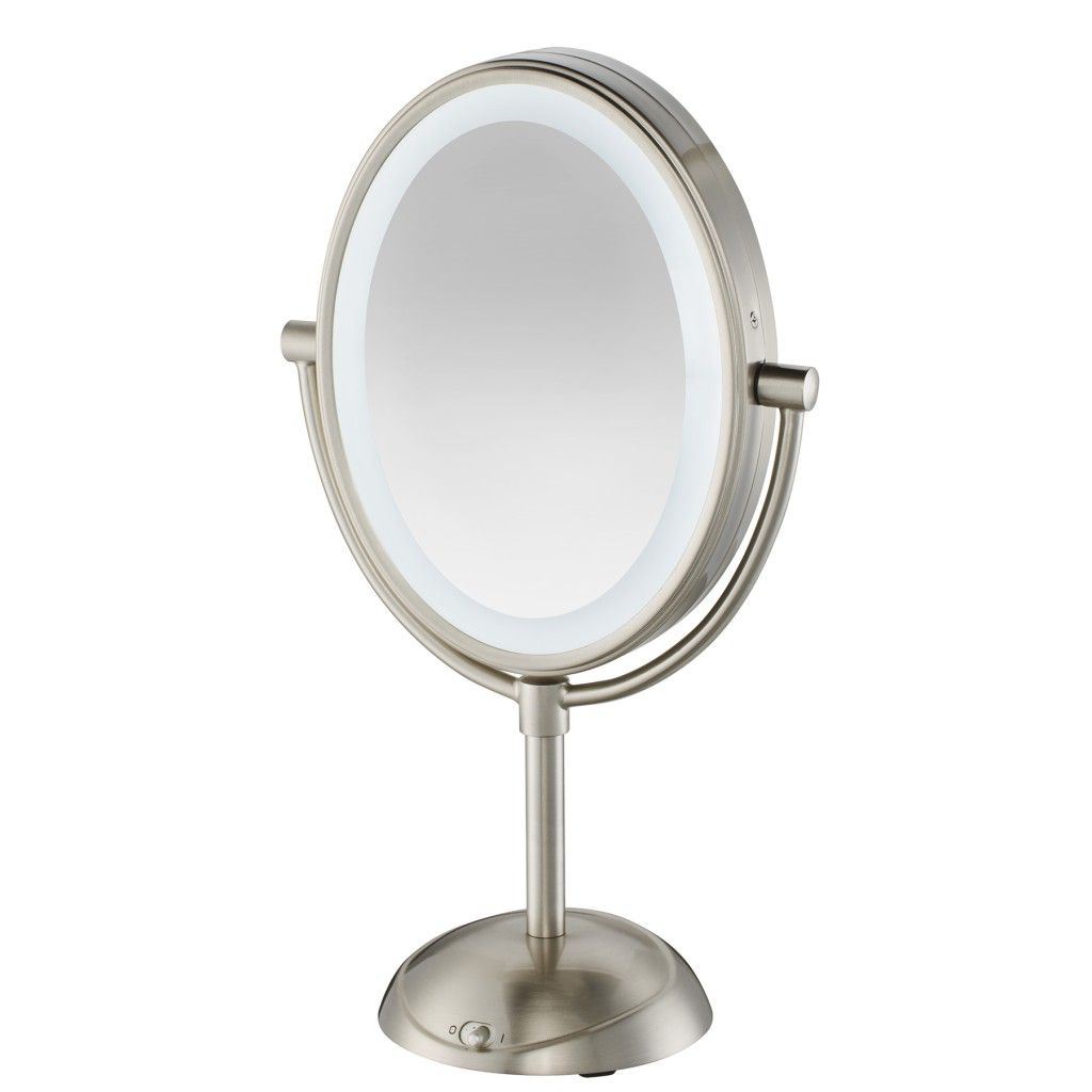 Conair Double Sided Lighted Vanity Mirror With Led Lights 1x 7x Magnification Chrome Be157 Walmart Com In 2020 Mirror With Led Lights Makeup Mirror With Lights Lighted Vanity Mirror