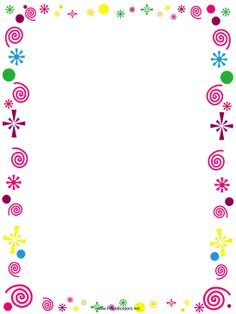party borders for invitations