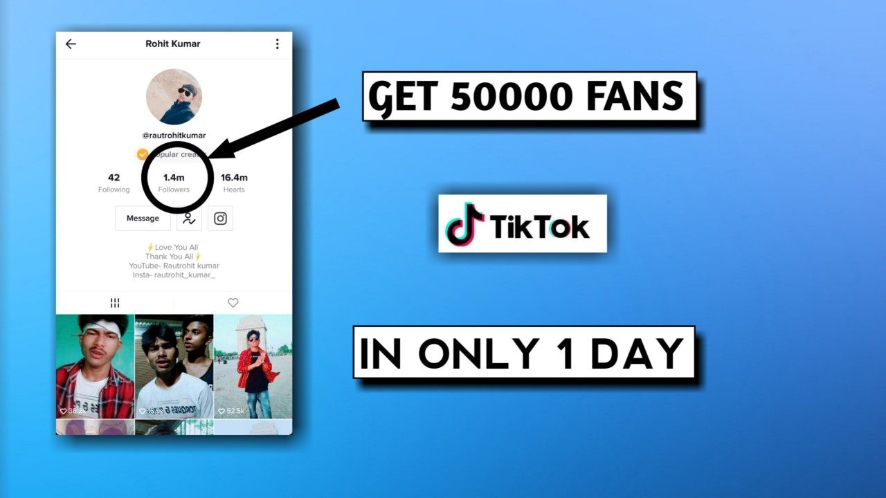 Get 50k Followers On Tik Tok In 1 Day Tik Tok Fans Kaise Badhaye Hindi Unlimited Likes And Fan How To Get Followers Auto Follower How To Get Famous