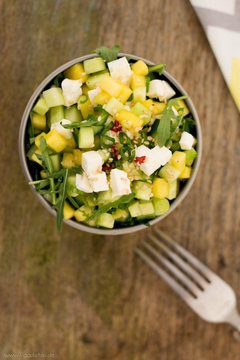 mango gurken salat yummy salat rucola salat und. Black Bedroom Furniture Sets. Home Design Ideas