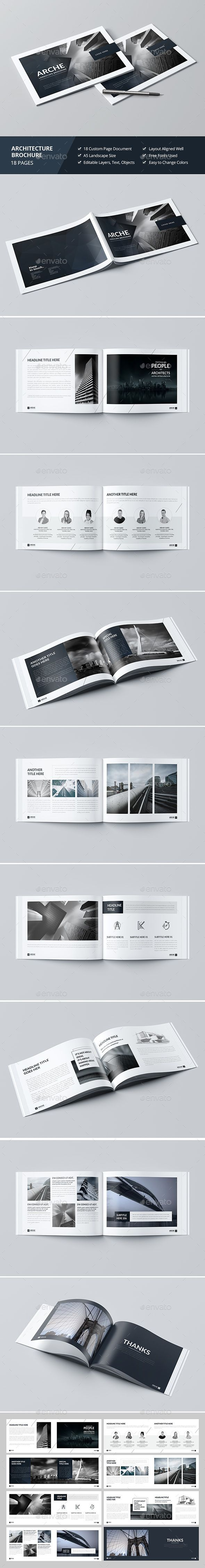 Haweya Architecture Brochure  Brochure Template Brochures And