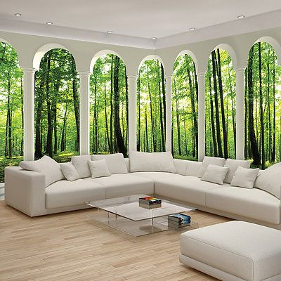 vlies fototapete fototapeten tapete tapeten wald natur. Black Bedroom Furniture Sets. Home Design Ideas