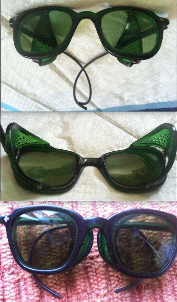 GO GLENDALE BAKELITE Vintage Steampunk Sunglasses Eyeglass Frames green translucent industrial mid century mod Tesla Edison designer glasses £109 PLUS SHIPPING