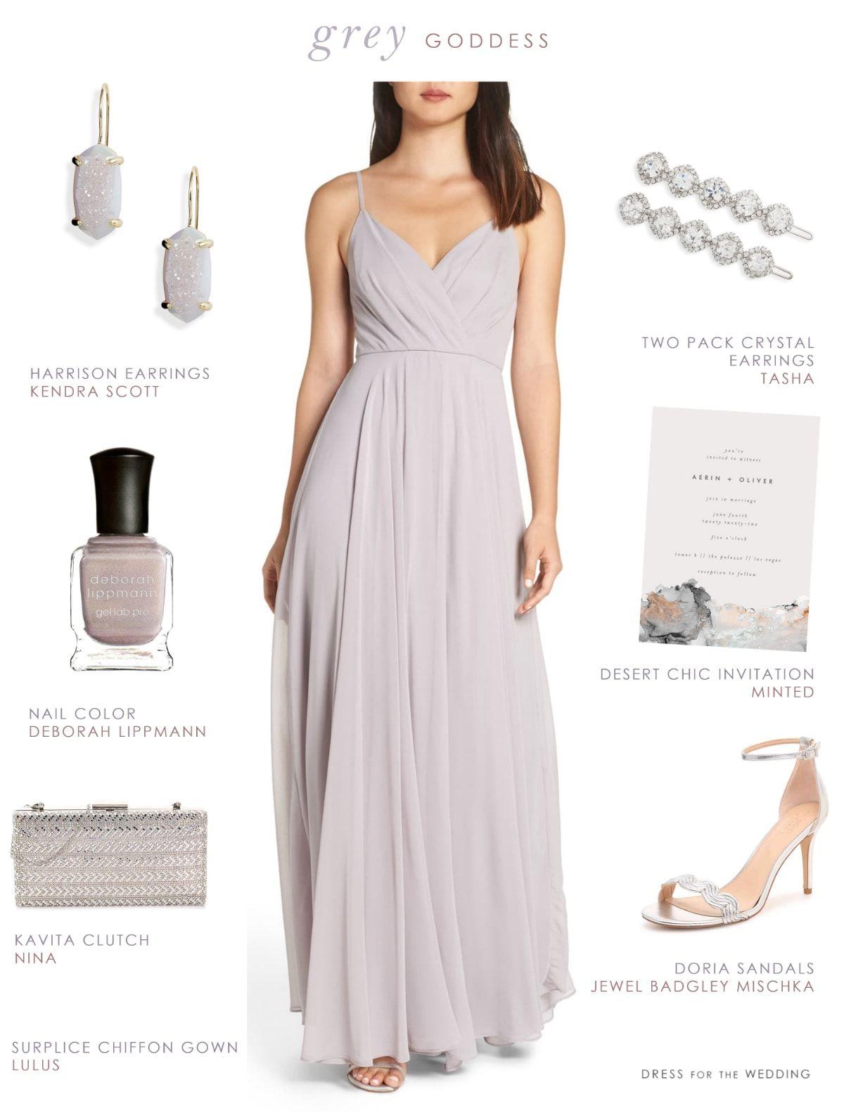 Long Light Grey Chiffon Bridesmaid Dress Dress For The Wedding Grey Bridesmaid Dresses Light Grey Bridesmaid Dresses Gray Chiffon Bridesmaid Dress