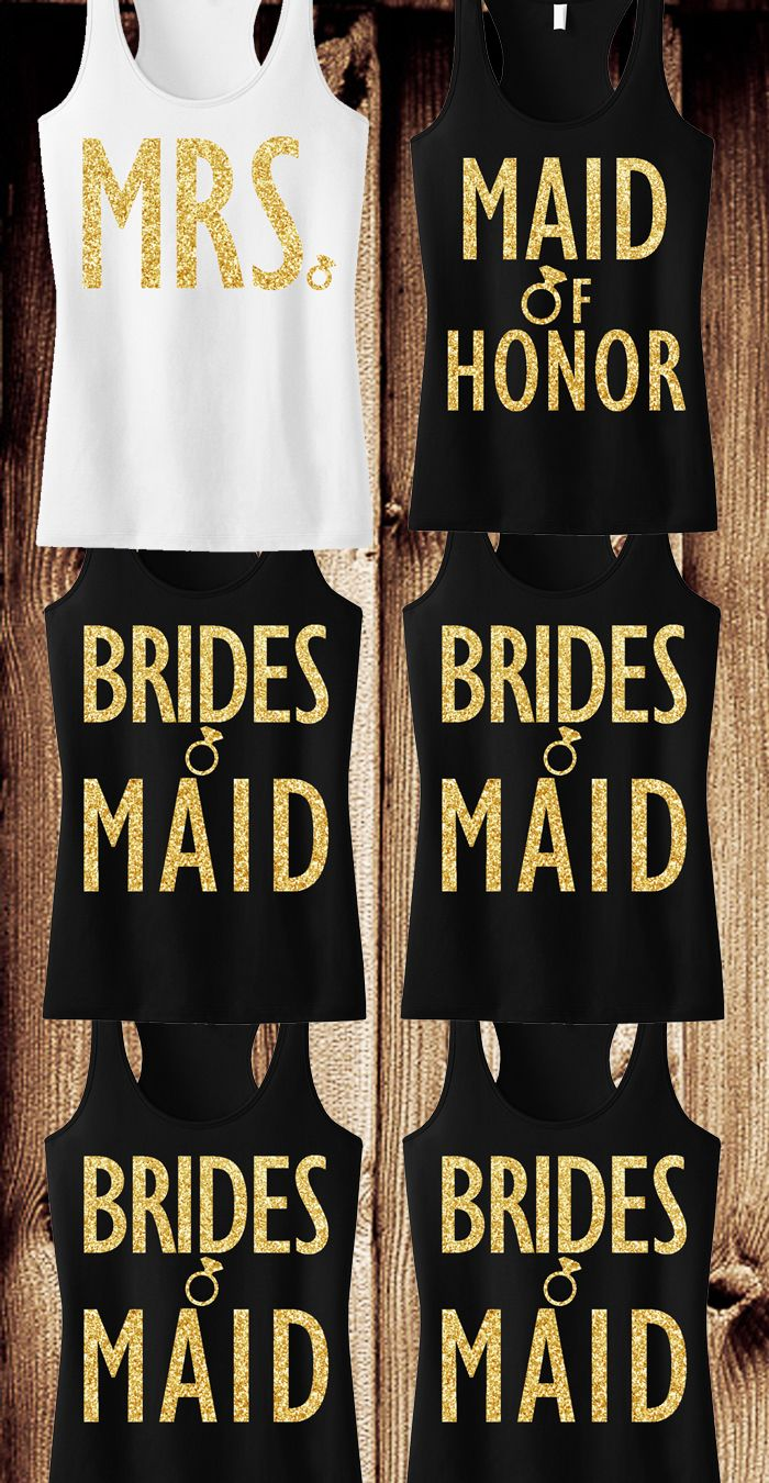 So many beautiful wedding/bridal shirts :)