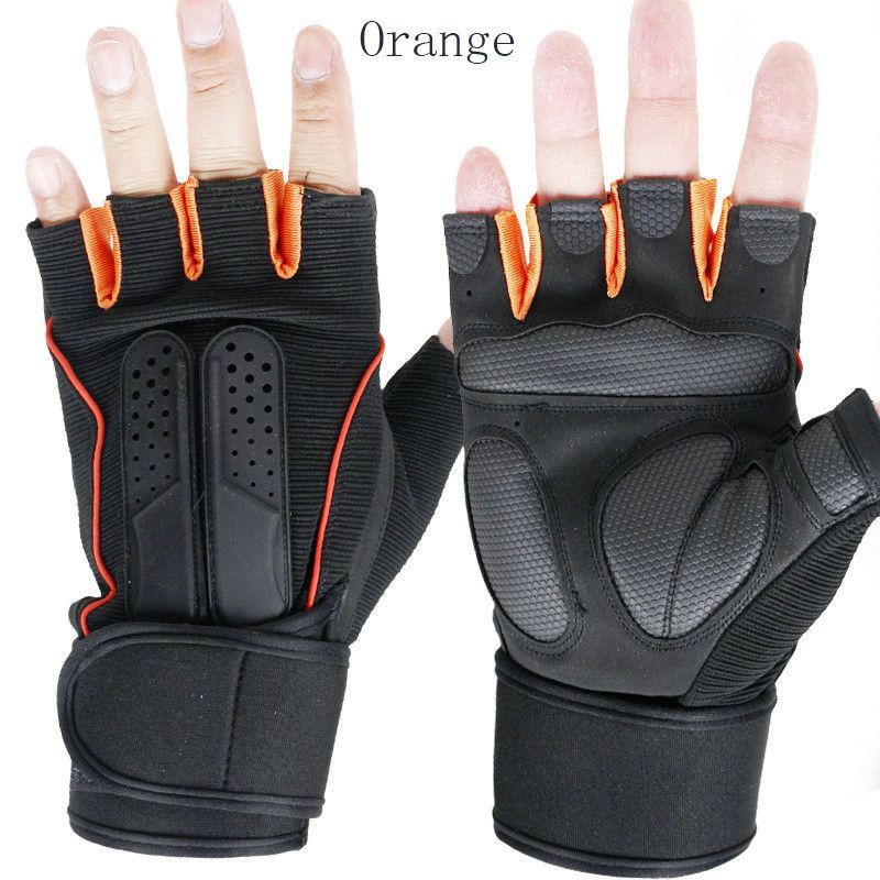 LongKeeper Gym Gloves Fingerless Men Women Gloves for Fitness Work Out