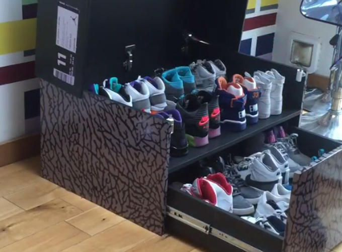 This Sneakerhead Stores His Collection In The Most Awesome Way Sneaker Storage Air Jordans Sneakers Box