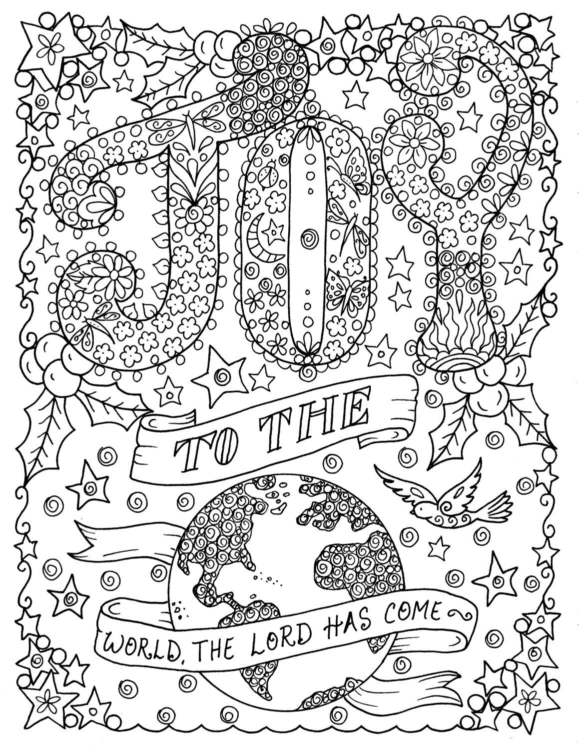 adult christmas coloring pages # 12