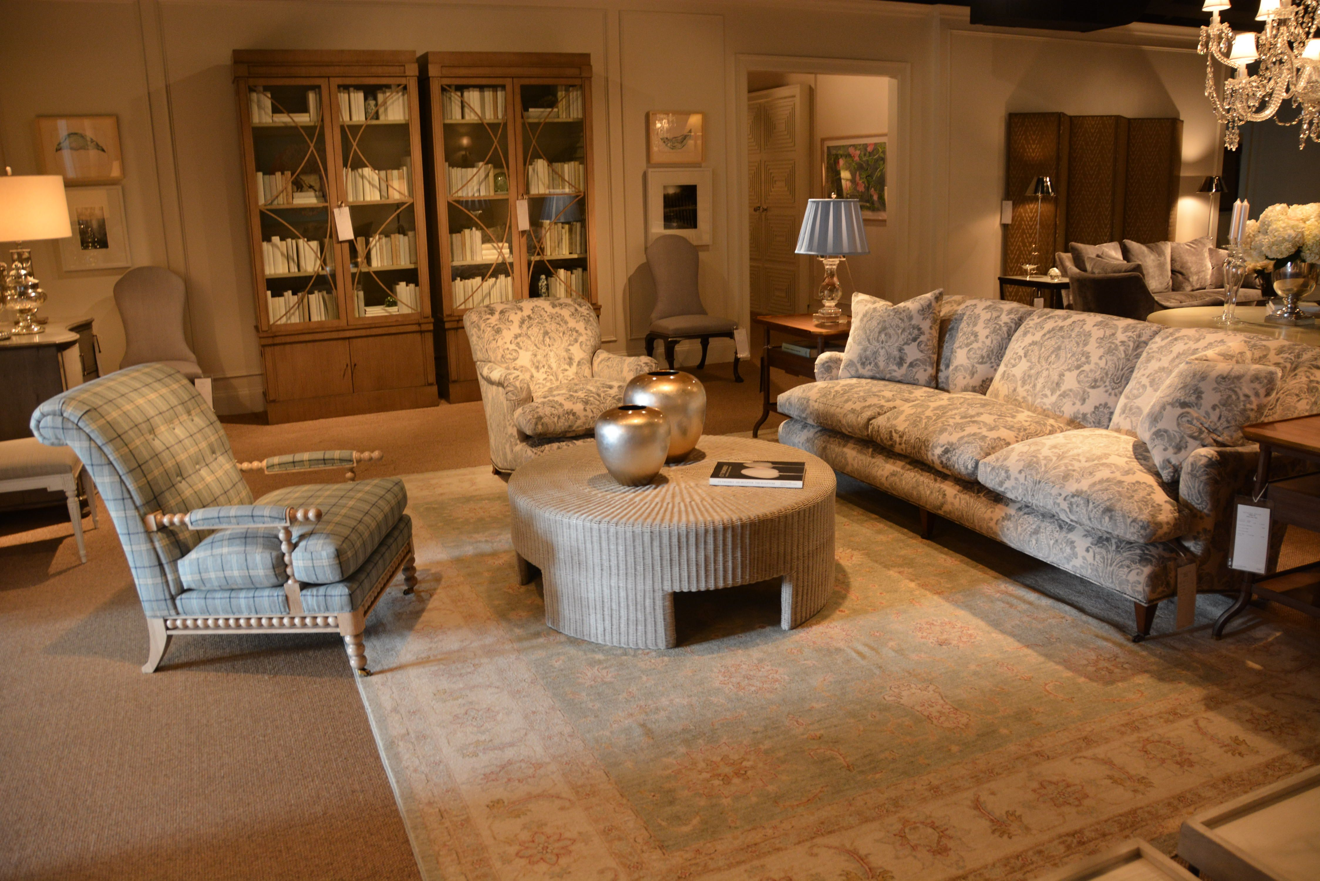 Showroom Living Room Room One Of The Hickory Chair Showroom Showcased The New Haydon