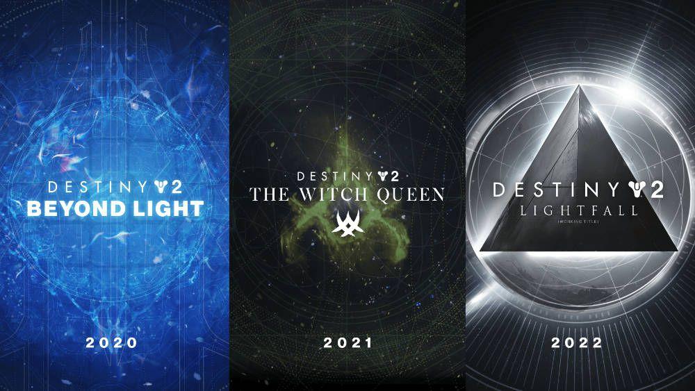 Destiny 2 Expansions Beyond Light The Witch Queen And Lightfall Announced In 2020 Destiny Witch Queen The Expanse
