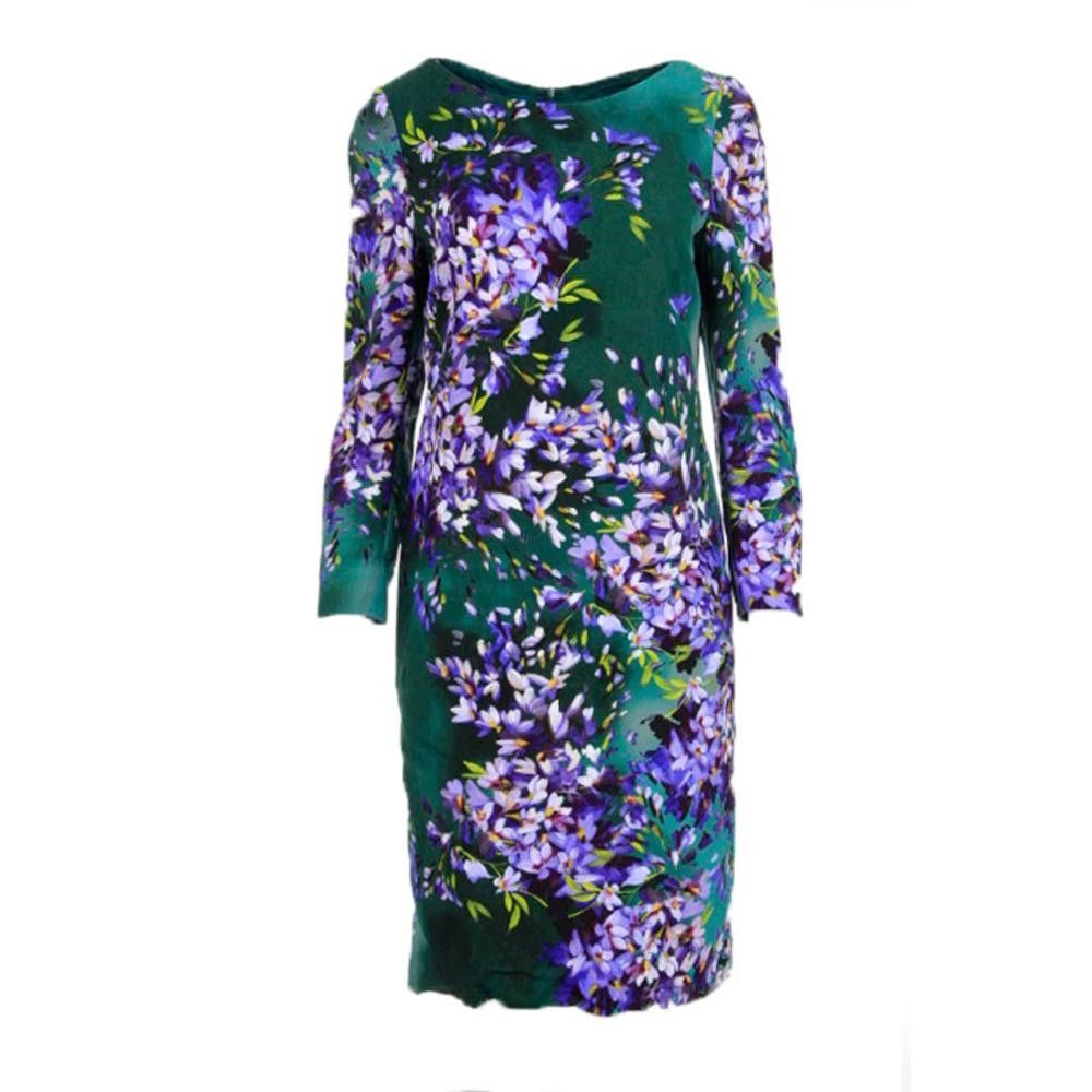 Escada womens floral print long sleeves formal dress products