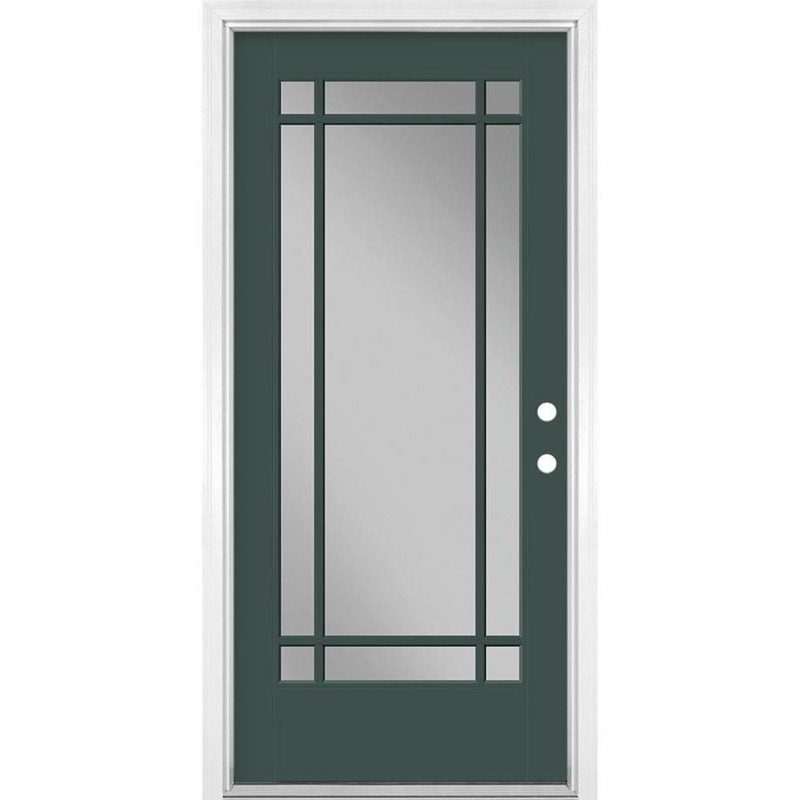Masonite 36 In X 80 In Fiberglass Full Lite Left Hand Inswing Evergreen Painted Prehung Single Front Door Brickmould Included Lowes Com Entry Doors With Glass Entry Doors Single Doors Masonite hd lite steel entry doors offers superior strength combined with the elegance of decorative glass. pinterest