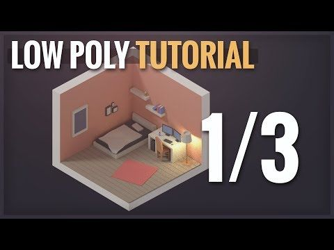 Isometric Room (Low Poly) Blender Tutorial Part 1/3
