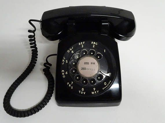 Vintage Bell System Black Rotary Dial Desk Top Telephone By