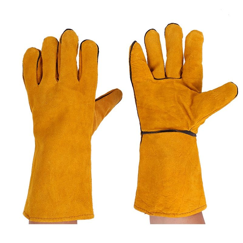 Leather Welding Gloves Heat//Fire Resistant Perfect for Gardening//Oven//Grill