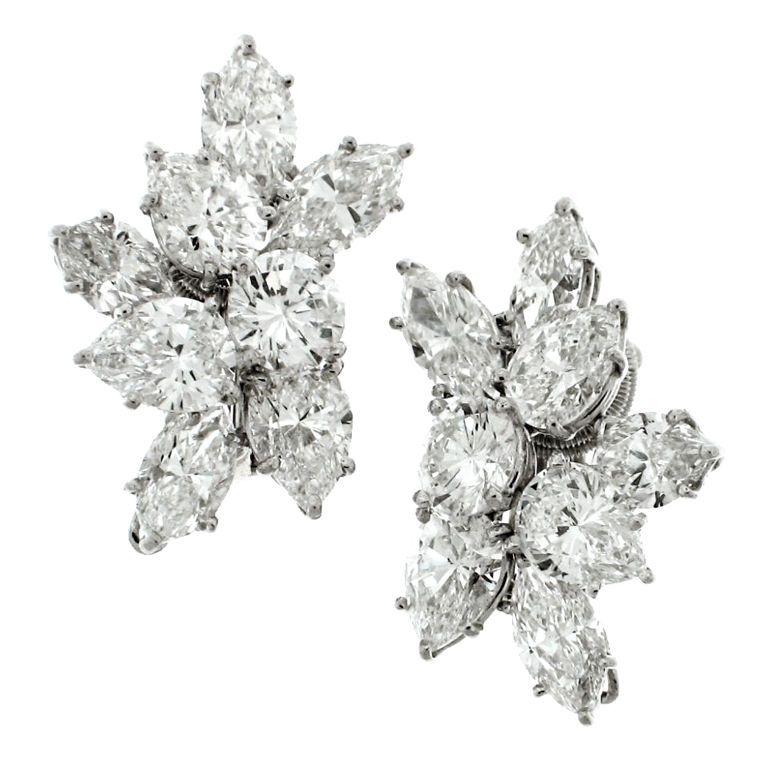 Harry winston 12 ct diamond cluster earrings harry winston harry winston 12 ct diamond cluster earrings aloadofball Images