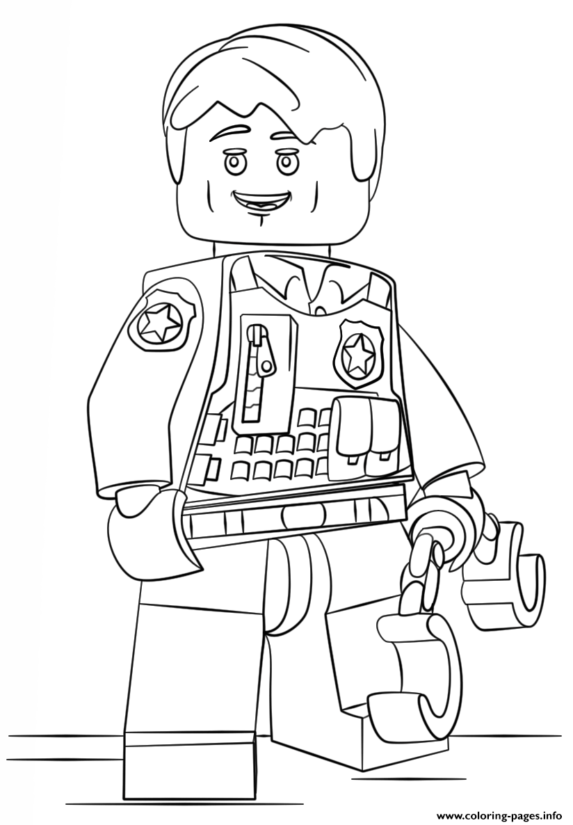 print lego undercover city coloring pages