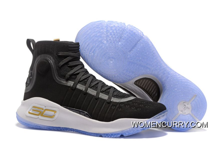 """a0895f1763b202 Under Armour Curry 4 """"Away"""" Black White Shoes For Men in 2019 ..."""