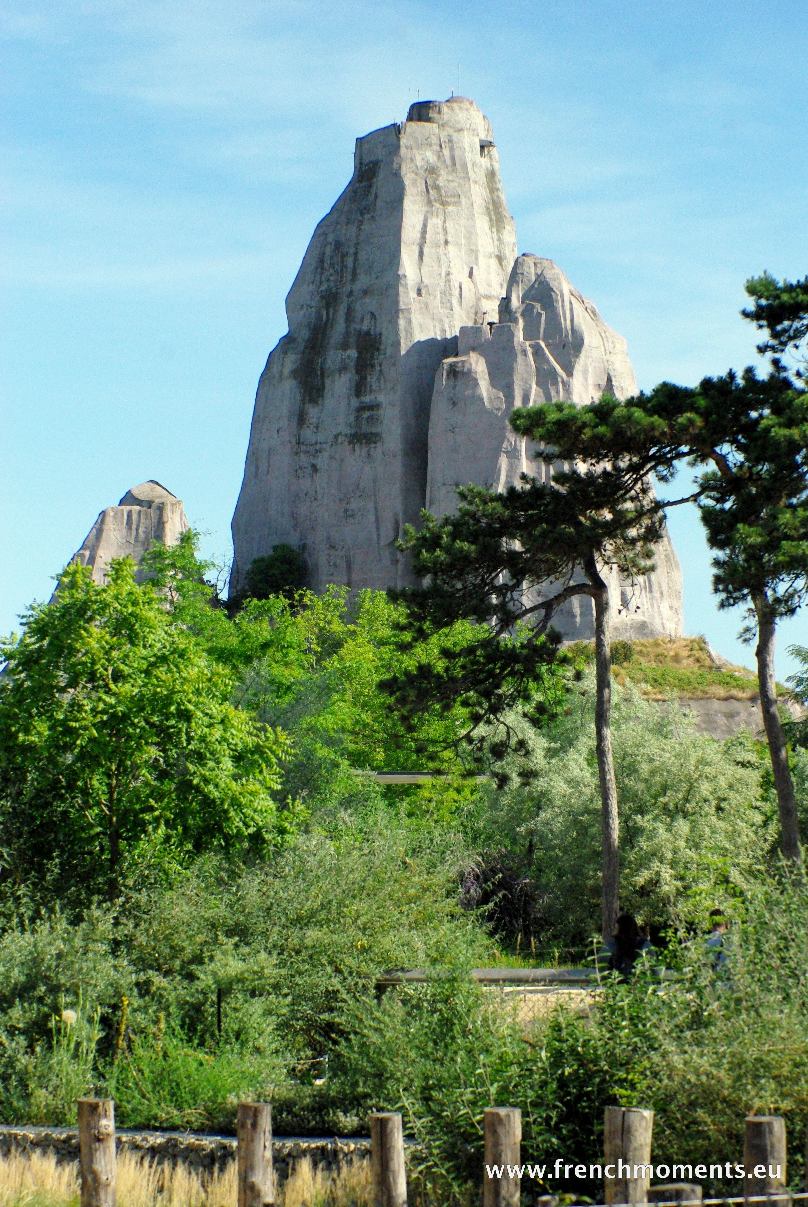 The Big Rock Of The Paris Zoo Towers The Wood Of Vincennes It Is