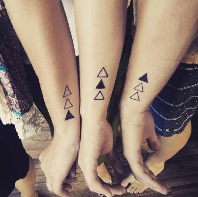 Triangular Sibling Tattoos by Stephanie Perkins