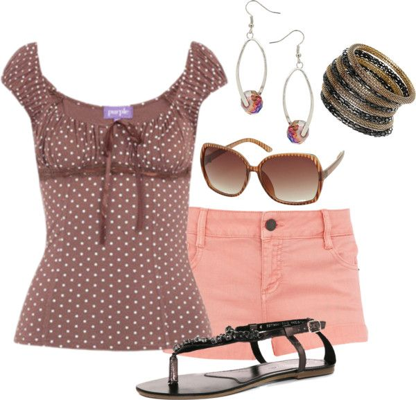 Baby Doll Top and Shorts, created by wherecoconutgrows on Polyvore