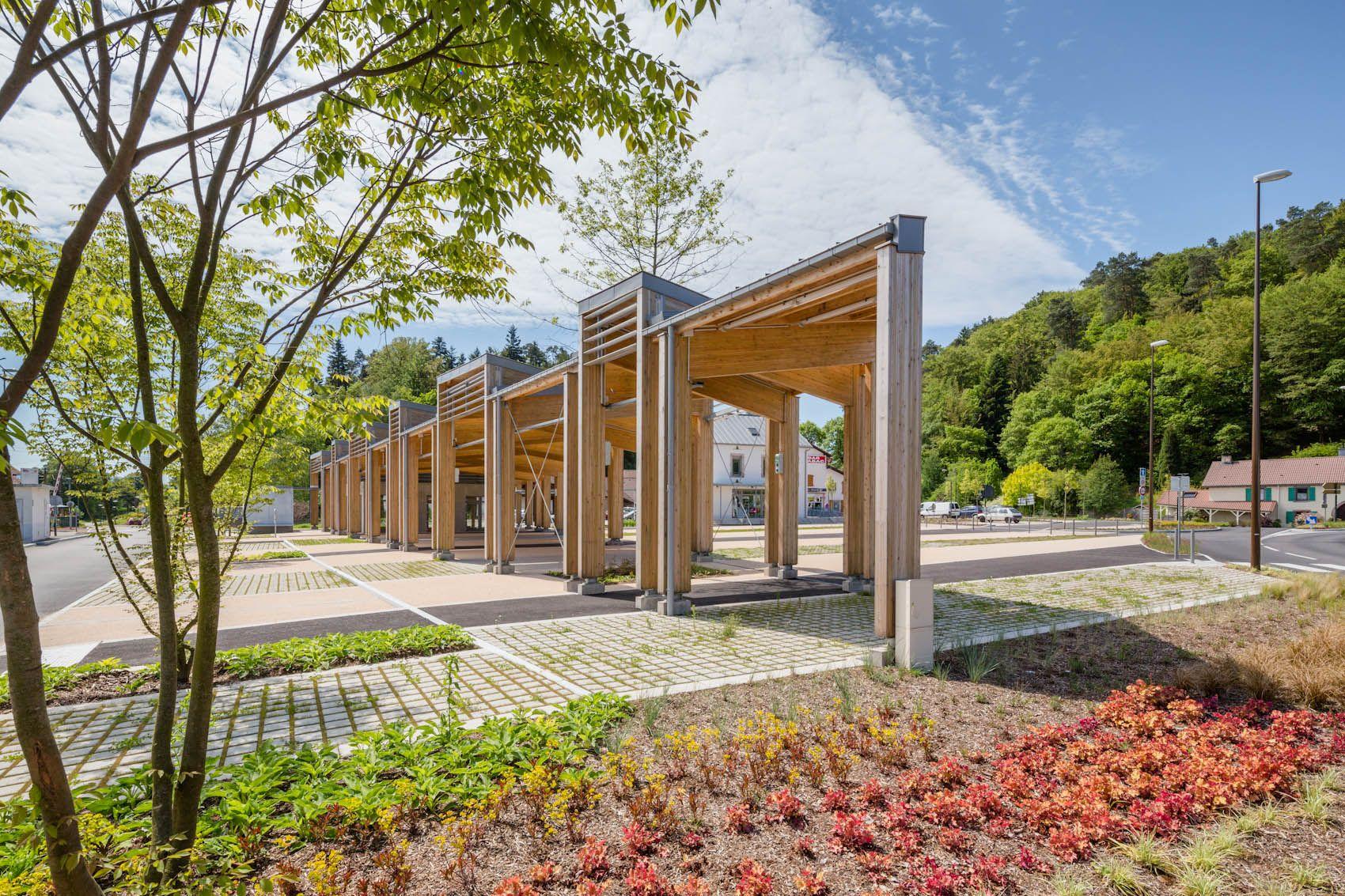 Marché couvert Saint Nabord Vosges 88 HAHA Architecture