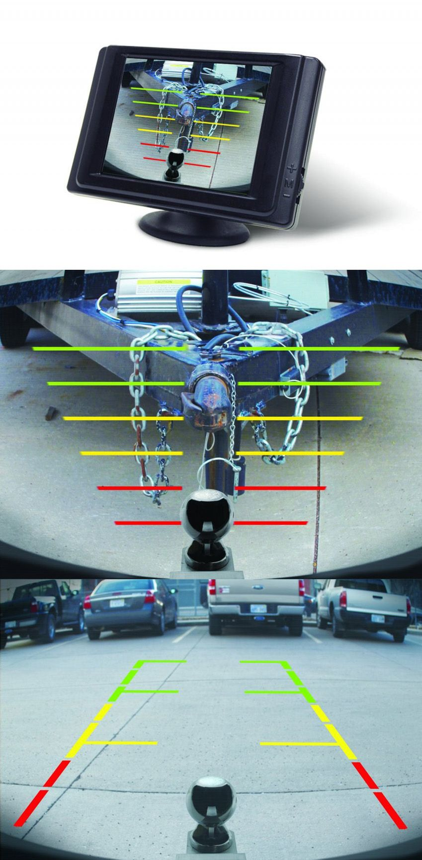 Hopkins Smart Hitch Backup Camera and Hitch Aligner provides rearview  vision and an easy hookup to