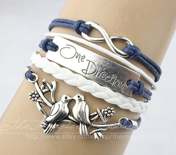 Infinity one direction & bird / 1 d charm by themagicbracelet, $5.59