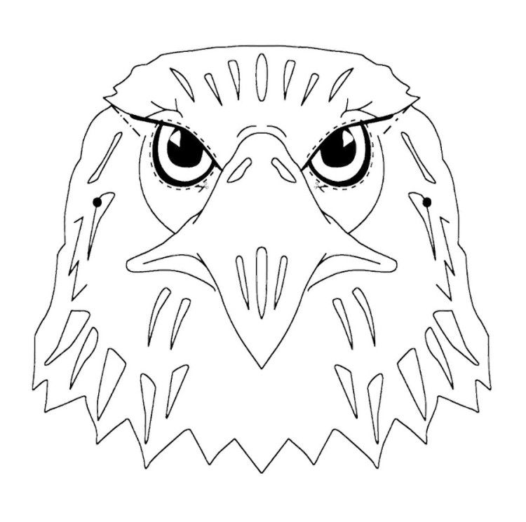 Eagle Head Coloring Pages Eagle Face Eagle Mask Eagle Outline