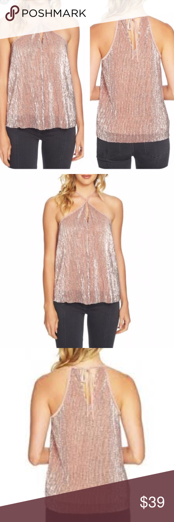 d9737dcb5f7e88 🆕 1. STATE Sequin Cami Tank