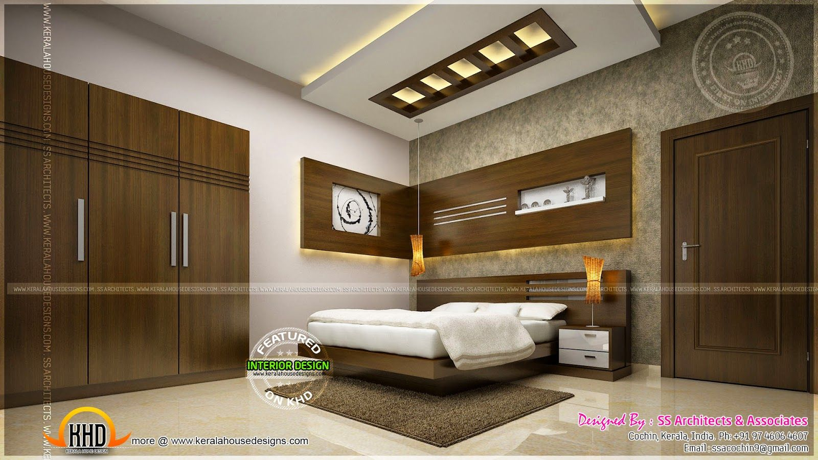 Bedroom Ceiling Designs Kerala Awesome Master Bedroom Interior Kerala Home Design And