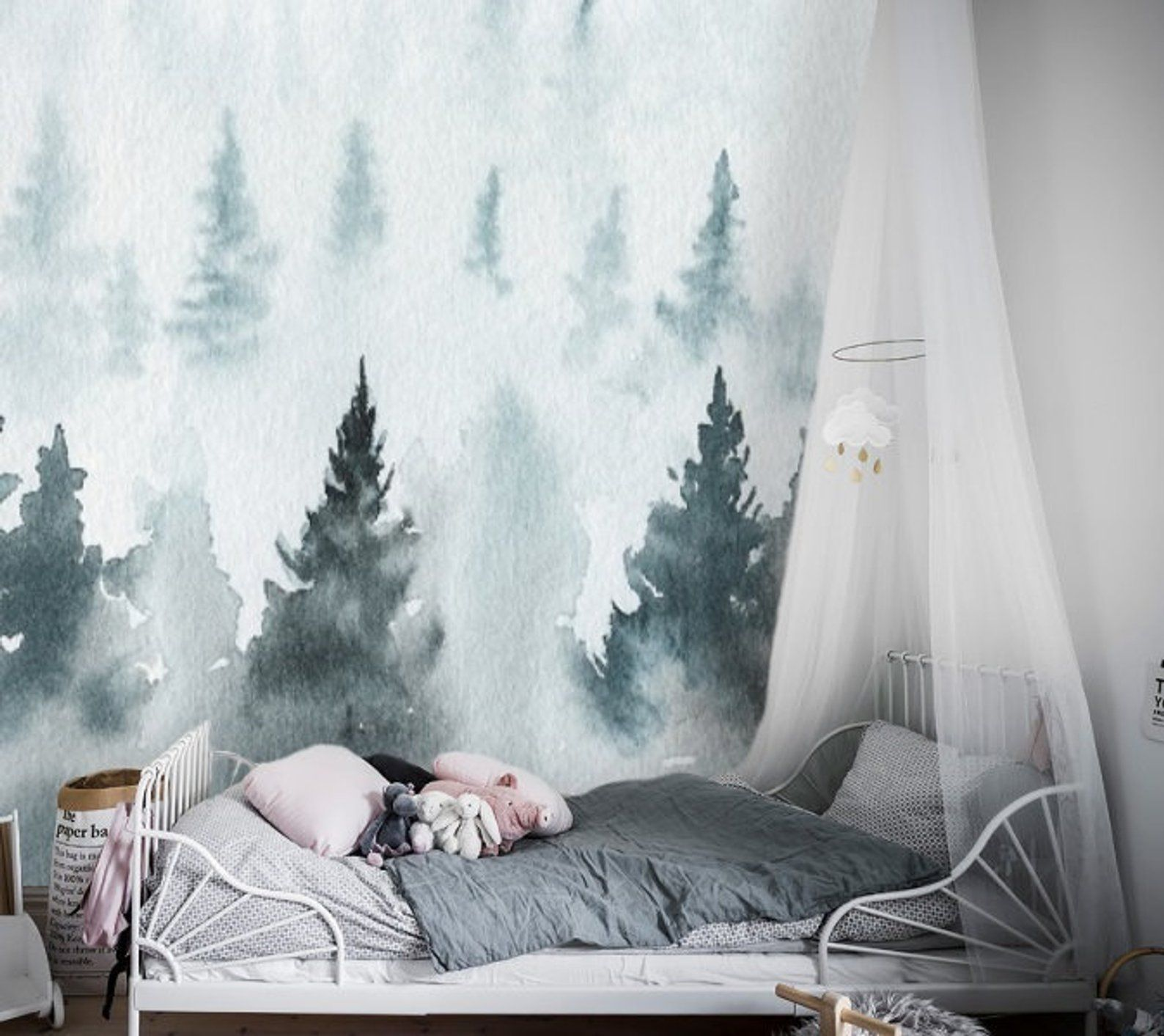 Nature, Forest wall mural, removable wallpaper, forest