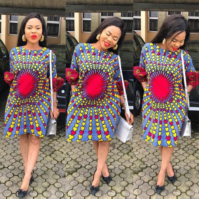 Simple Ankara Styles Design Short Gown Styles Garderie Mode