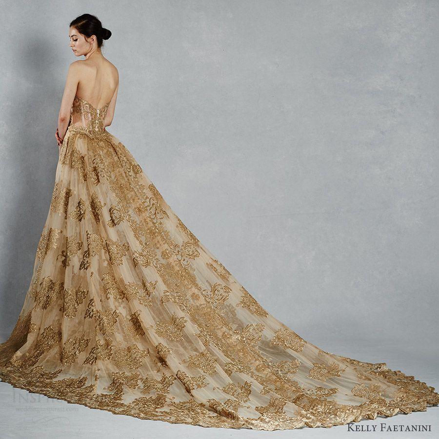 Beautiful Gold Wedding Dresses: Kelly Faetanini Spring 2017 Wedding Dresses