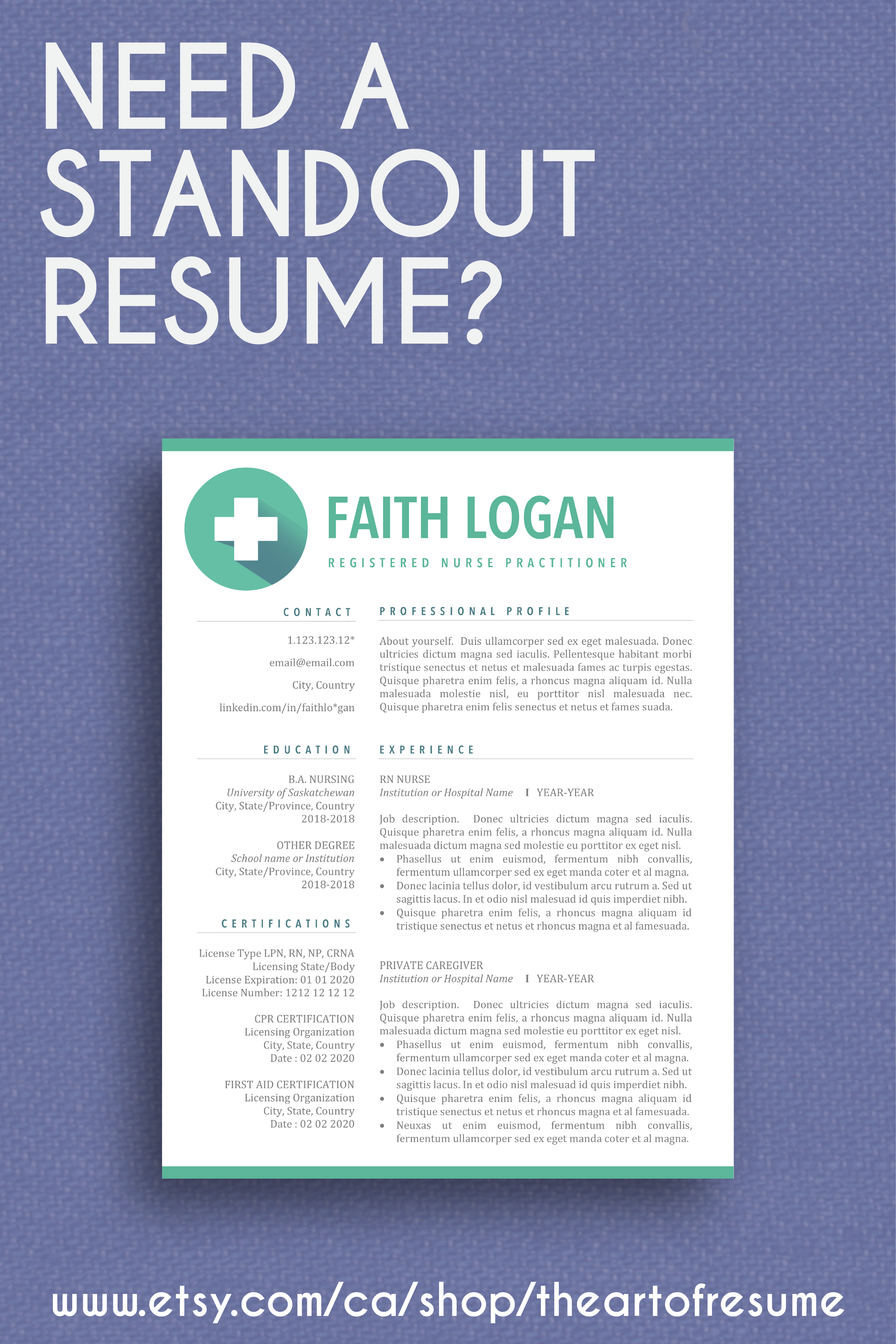 10 Etsy Sale Buy Now And Save Big Resume Template Word 1 Page