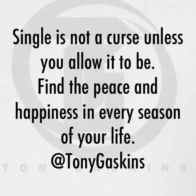 Being Single Is Not A Curse