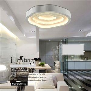 Modern Simple Fashion LED Metal White Flush Mount Light Living Room Bedroom  Study Room Dining Room Amazing Ideas