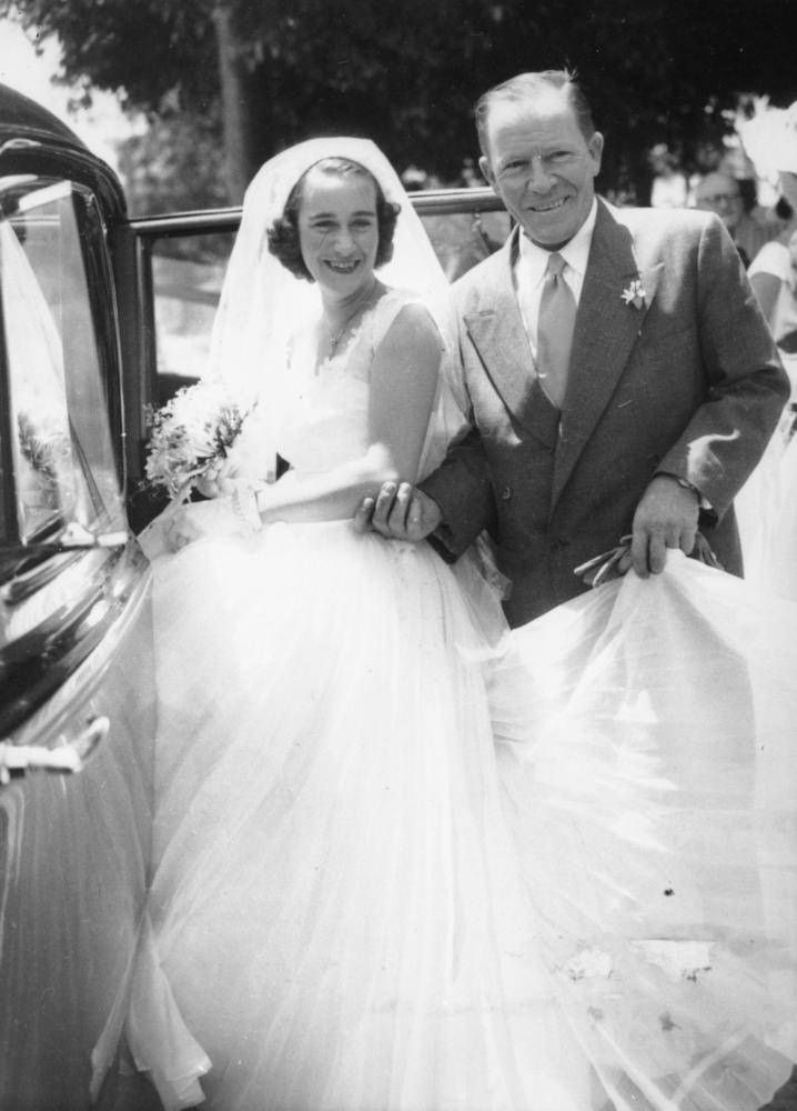 Hugh Tully and his bride on their wedding day, Brisbane, 1953 | Holy ...