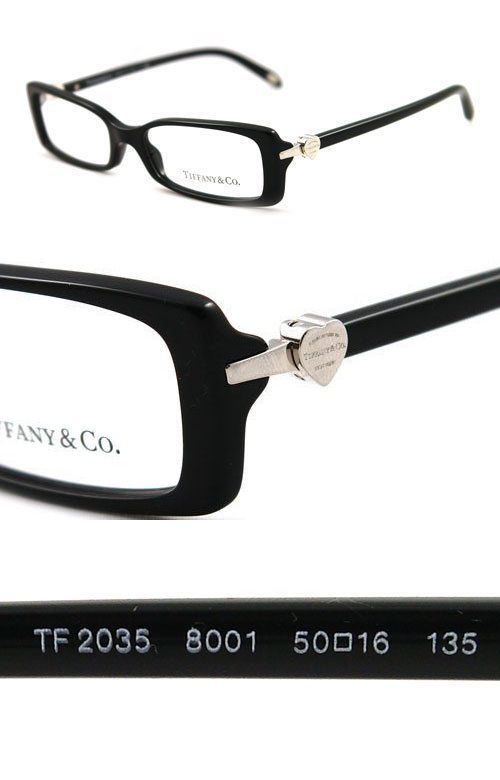 Fashion Eyewear Clear Glasses 179248: Tiffany And Co Black Eyeglass ...