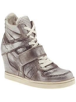 29c8005486fb metallic wedge sneakers by Ash