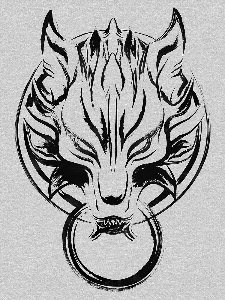 Wolf Seal Black Edition Fitted T Shirt Final Fantasy Tattoo