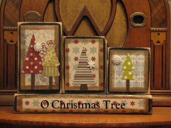 O Christmas Tree blocks