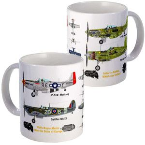 P-51 Mustang Versus Mugs 2 Pack now featured on Fab.