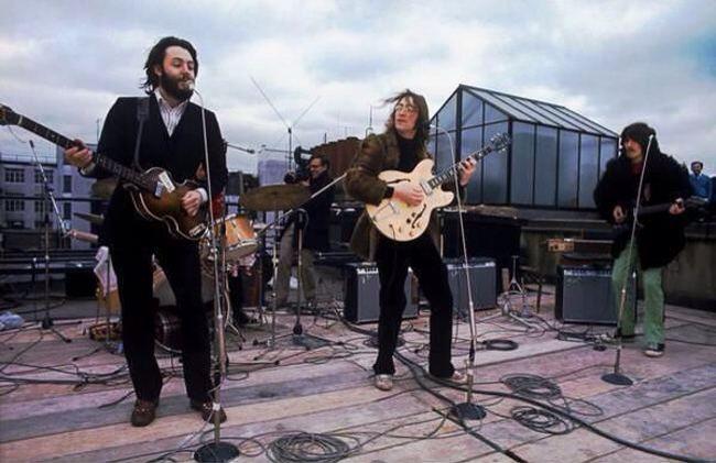 Beatles last concert on roof in London 1969