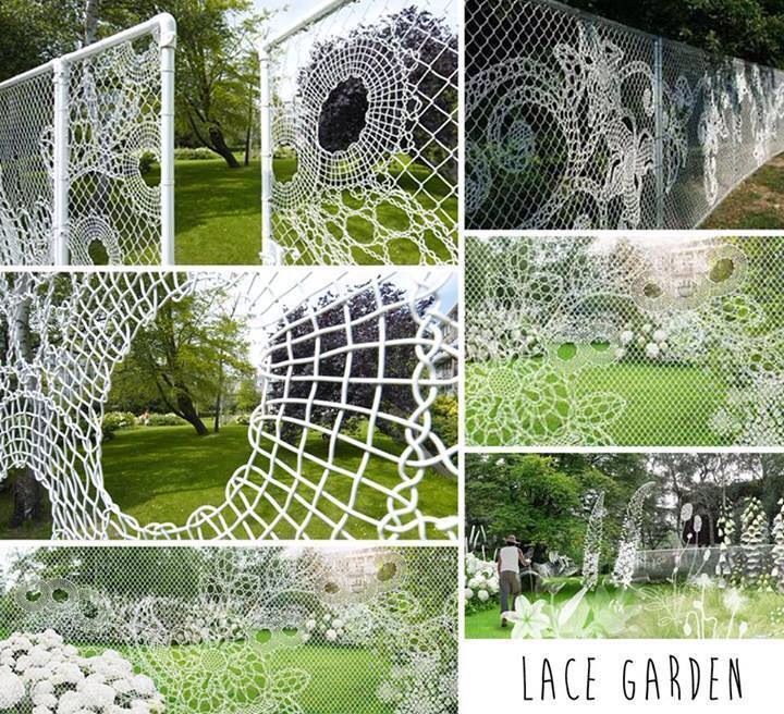 Lace Chain Link Fence Art —