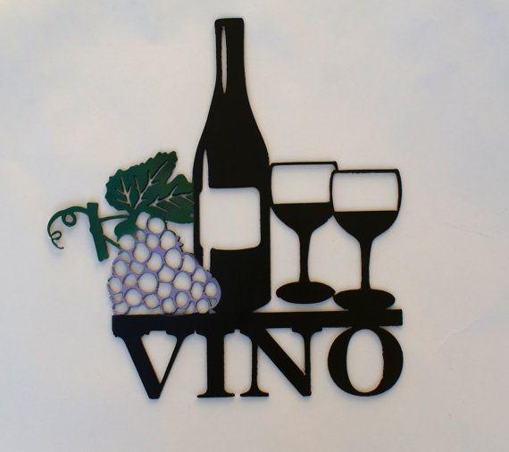Wine Metal Sign Wine Sign Vino Sign Wine Metal Signs Wine Signs Metal Signs