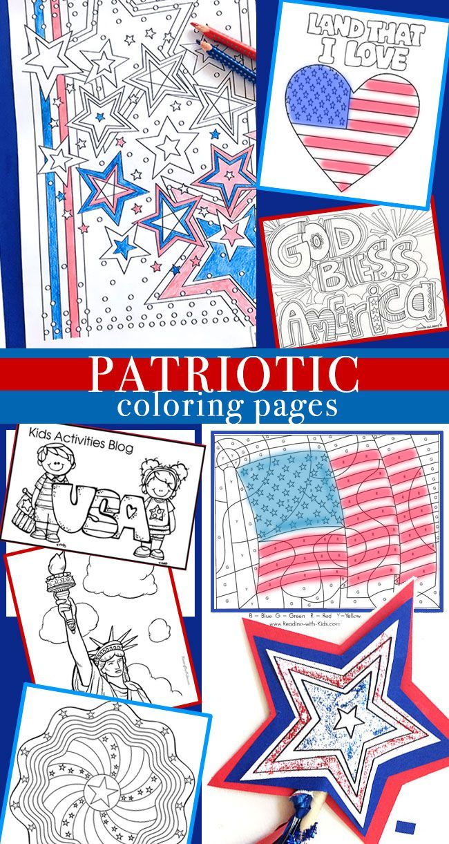 Patriotic eagle coloring pages - Patriotic Coloring Pages